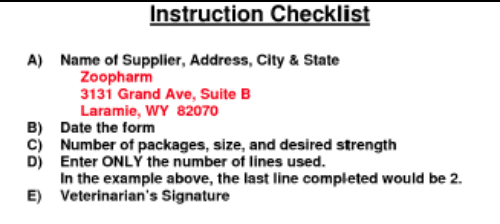 checklist Example Of Filled In Dea Form on